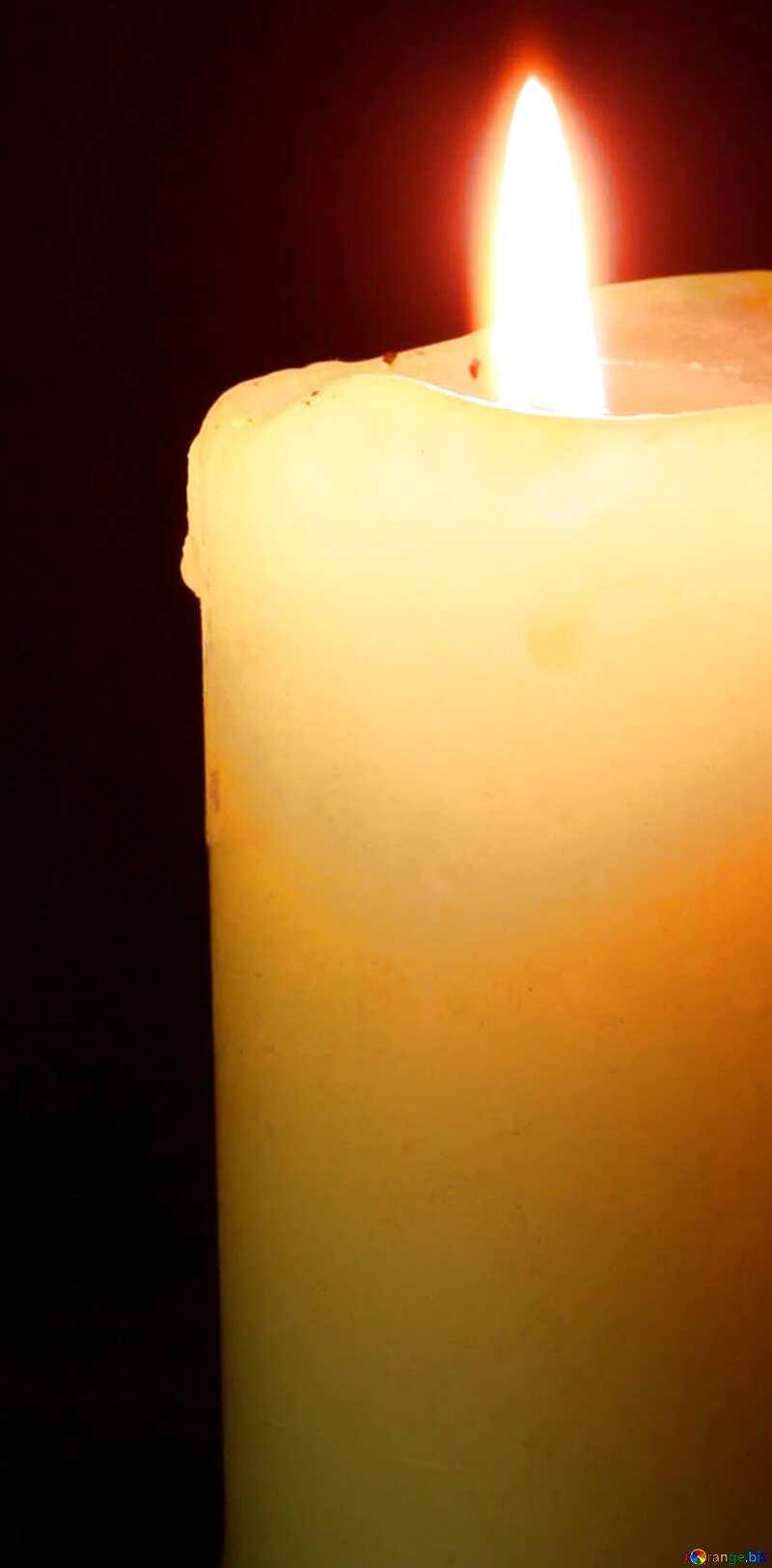 Burning  candle №6175