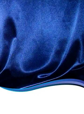 The effect of contrast. Very Vivid Colours. Fragment. Blue curved border.