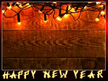 The effect of the dark. Very Vivid Colours. Blur dark frame. Card with text Happy New Year.