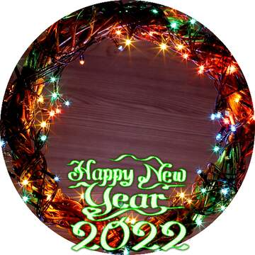 Frame circle. Happy New Year 2020.