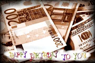The effect of light. The effect of sepia toned. The effect of the old dark frame. Happy Birthday card.