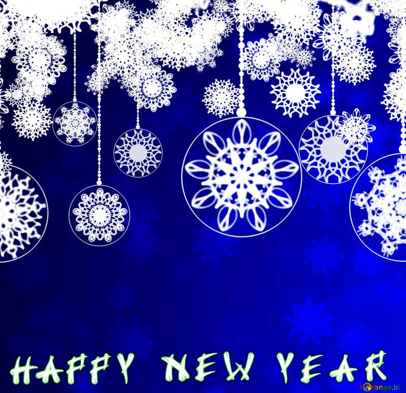 Blue Clipart Happy New Year №40711