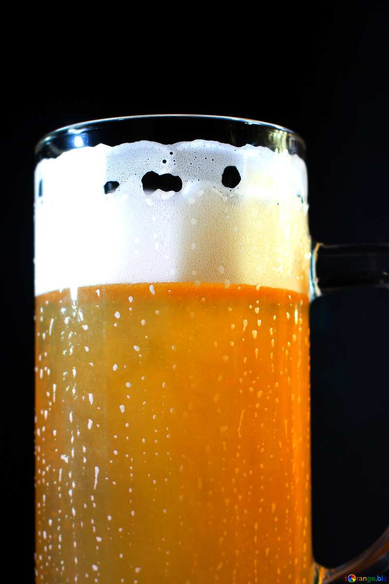 Cold glass beer  №37762