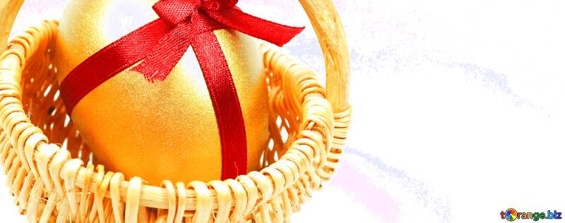 Easter card  Gold egg  №8211