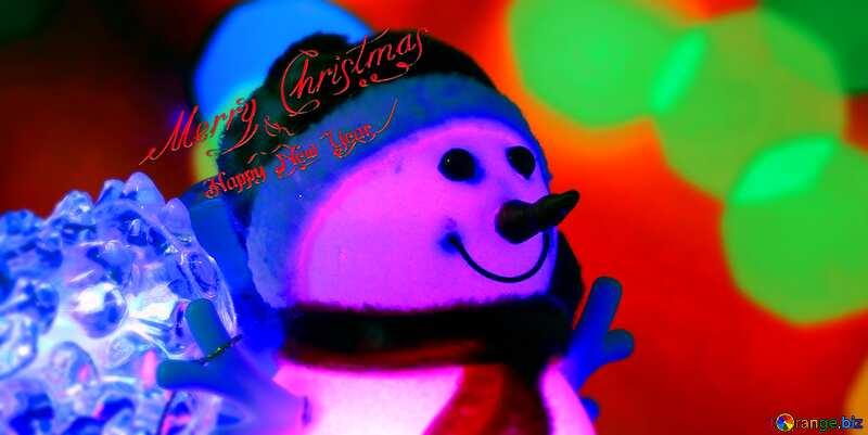 Merry Christmas snowman card №48110