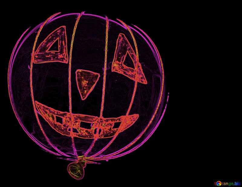 Neon Halloween Pumpkin №33644