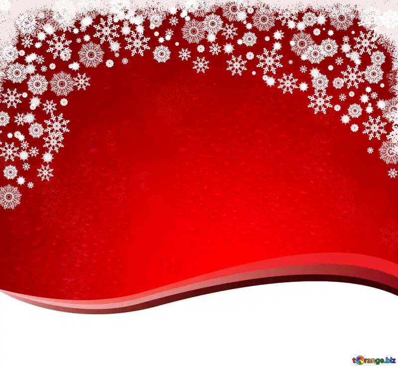 Red Christmas background  copy space №40659