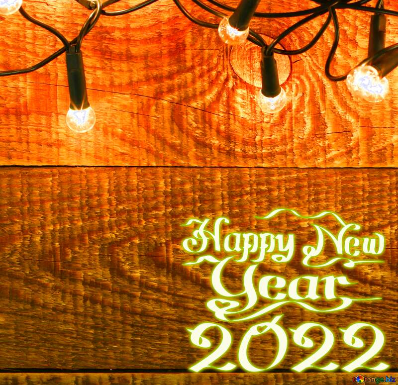 happy new year Garland on wooden wall backdrops №37890