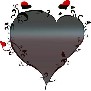 El efecto de la muy oscuridad. Colores vivos. La imagen de la plantilla con un corazón.