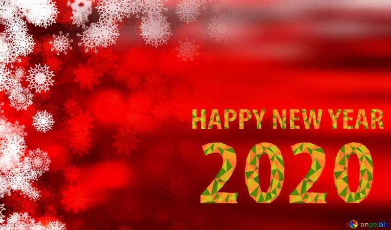 happy new year 2020 christmas Red background №40720