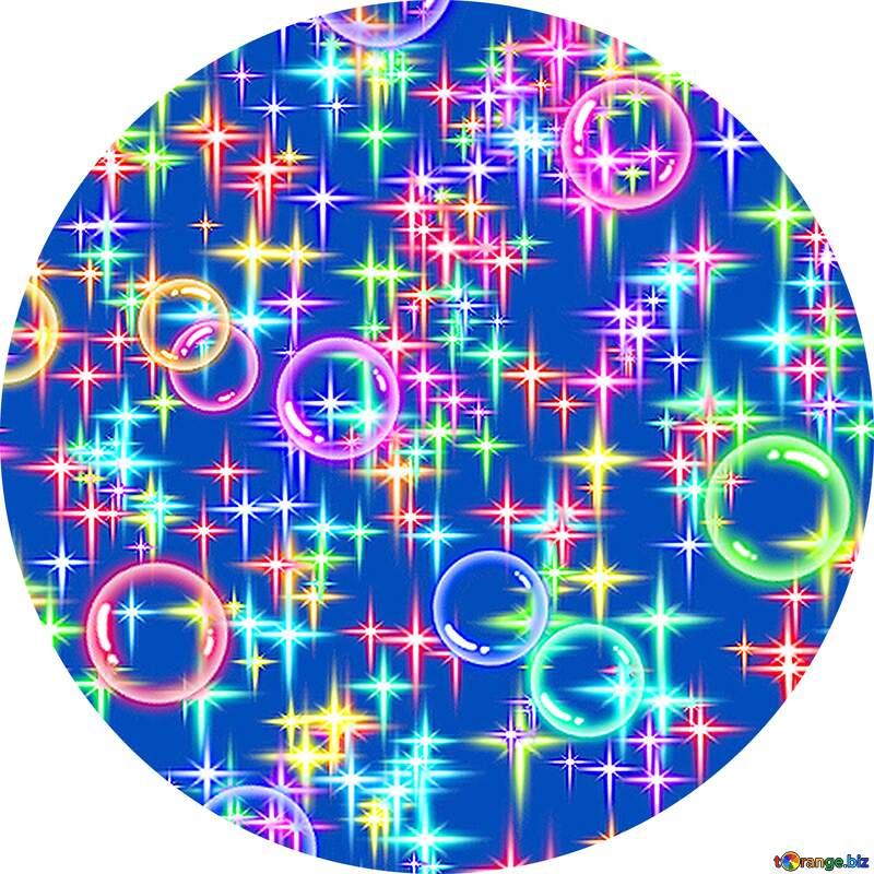 Holiday background in circle frame №39938