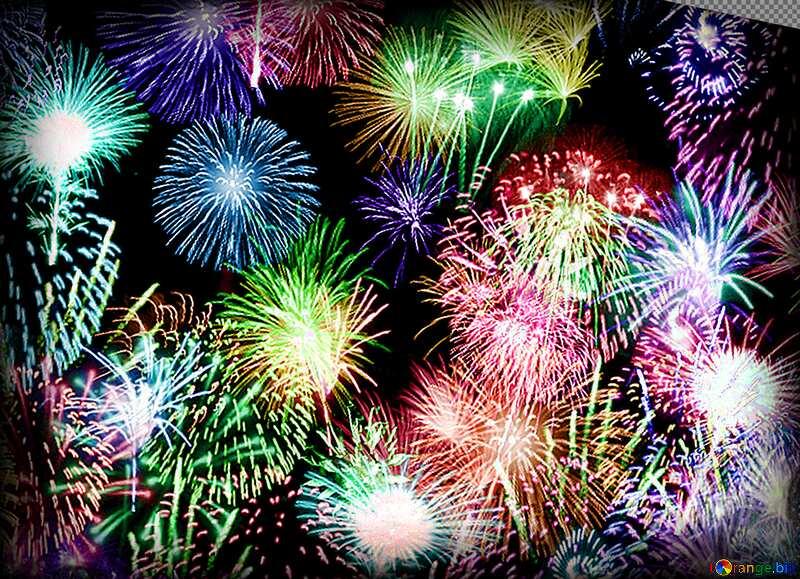 fireworks colors background №39942