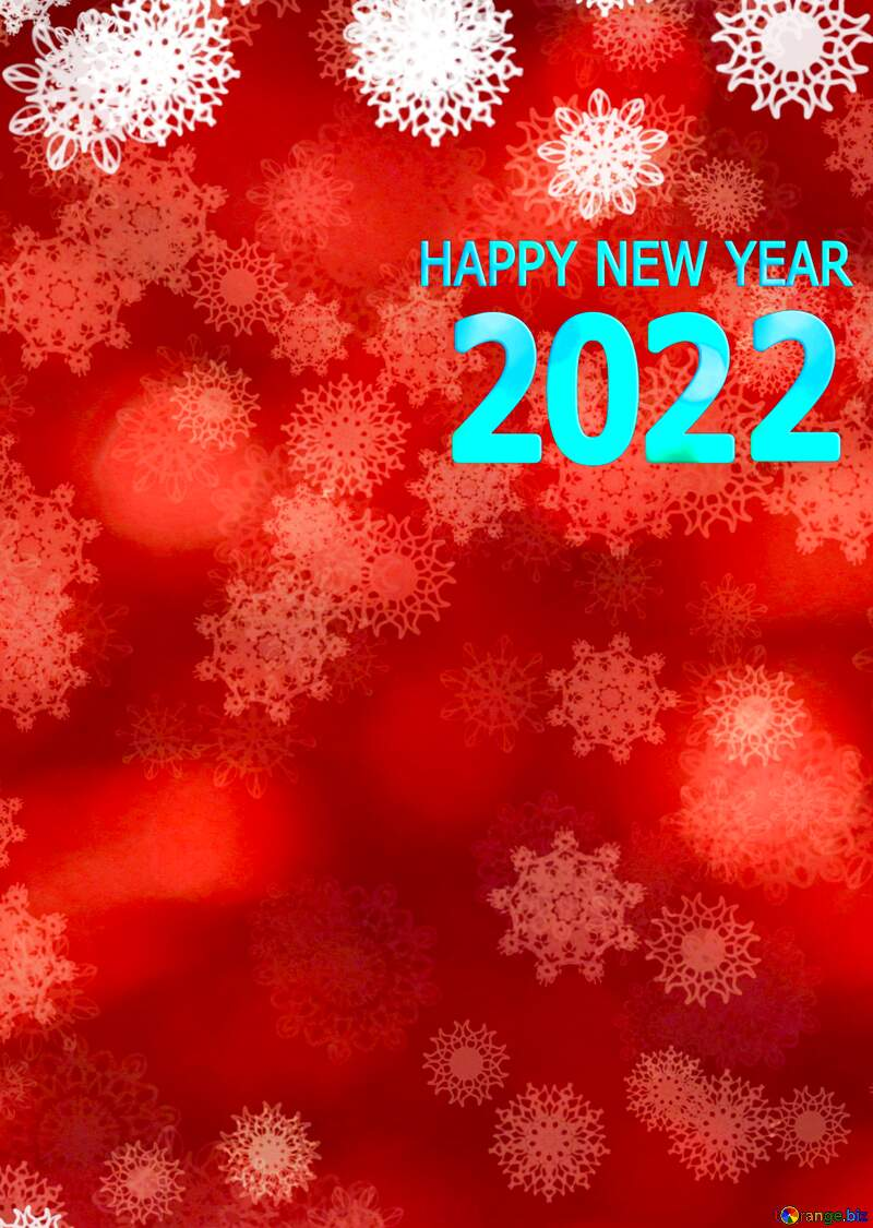 Red Christmas background Happy New Year 2022 №40720