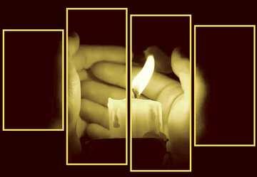 Die Wirkung der Spiegel. Die Wirkung von viel Licht. Die Wirkung von grünem Bunt. Bruchstück. Modular Bild mit einem dunklen Hintergrund.