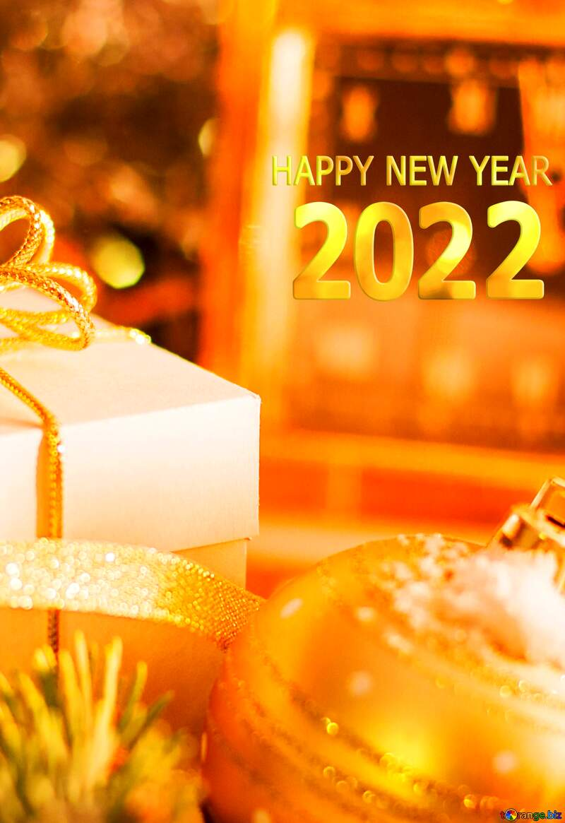 Greeting card with new year 2022 №15364