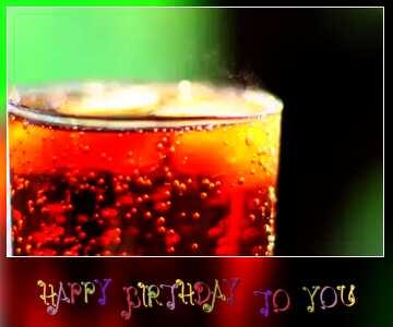 Die Wirkung des dunklen. lebendige Farben. Unschärfe Rahmen. Postkarte Alles Gute zum Geburtstag in Englisch.