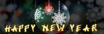 Frammento. Modello di presentazione infografica. Card with text Happy New Year.