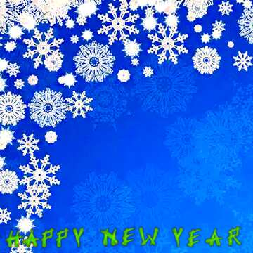 El efecto de la luz. Colores muy vivos. Fragmento. Card with text Happy New Year.