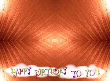 Very Vivid Colours. Frame Pattern. Happy Birthday card.