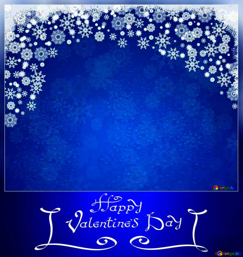 happy valentines day snow blank card №40657