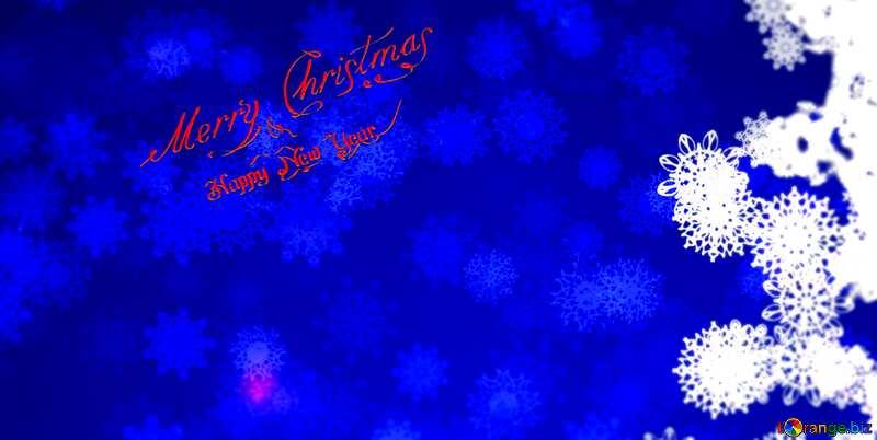 Blue Christmas background snowflake blur frame №40708