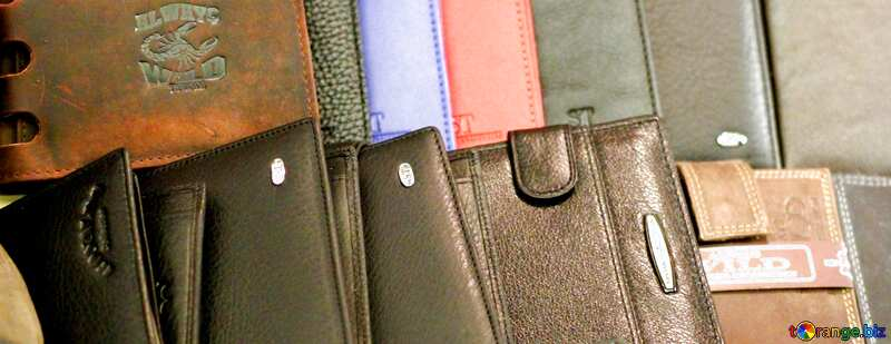 Leather wallets banner background №49166