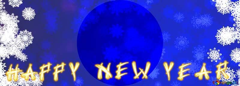 happy new year background blue circle frame №40708