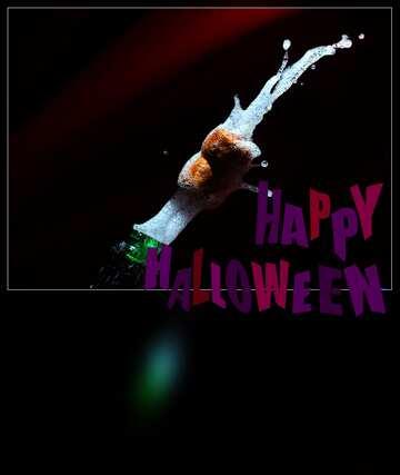 The effect of the dark. Very Vivid Colours. Blur dark frame. Happy halloween.
