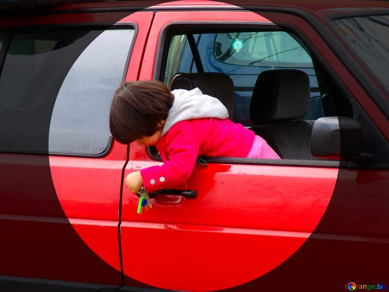 Child the car danger played keys. infographic presentation template №415