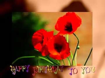 Die Wirkung der Kontrast. Sehr klare Farben. Rahmen grau Fuzzy. Postkarte Alles Gute zum Geburtstag in Englisch.