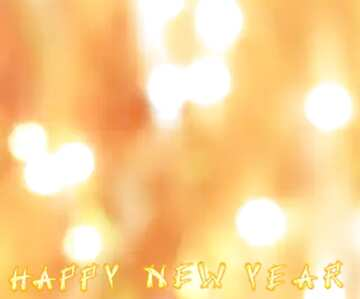 The effect of light. Very Vivid Colours. Fragment. Card with text Happy New Year.
