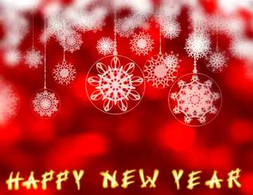 Very Vivid Colours. Blur frame. Fragment. Card with text Happy New Year.