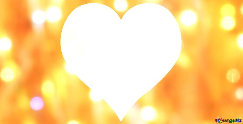Gold love heart background №24613