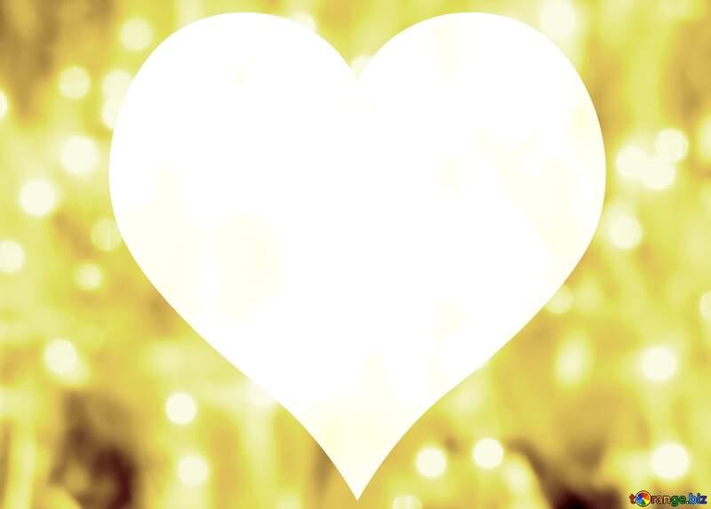 Background Christmas heart №24613