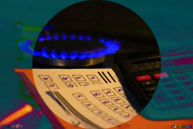 gas flame,sheet with numbers ball bowl №38468