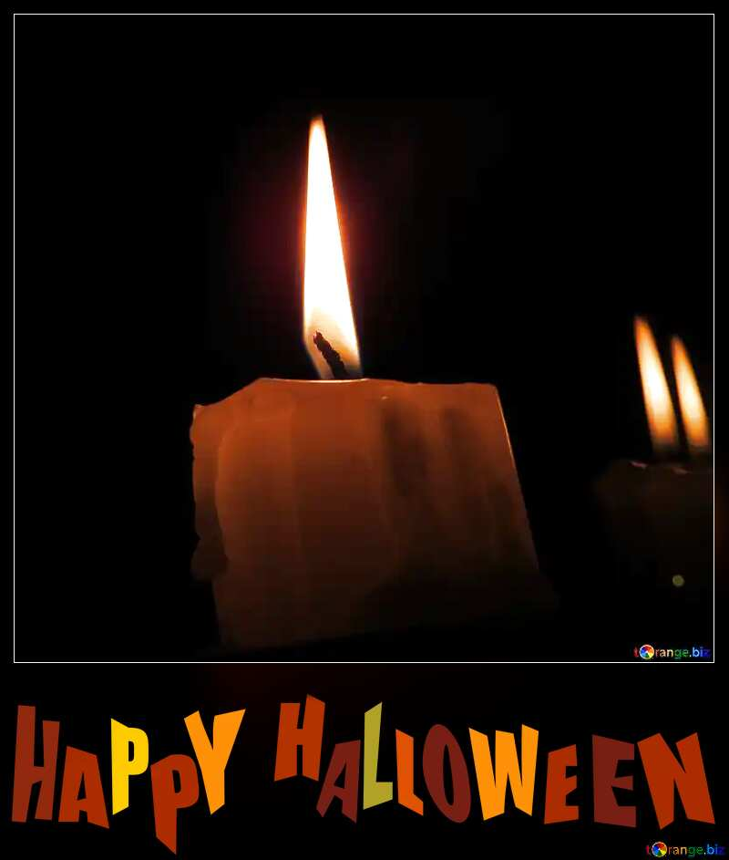 Candle happy halloween №17416