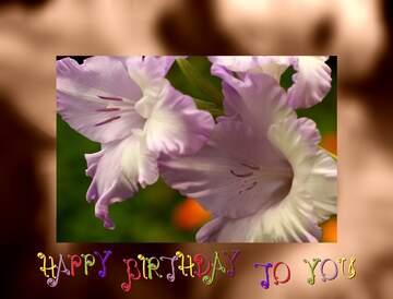 Die Wirkung der Spiegel. Rahmen grau Fuzzy. Postkarte Alles Gute zum Geburtstag in Englisch.