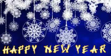 Fragment. Card with text Happy New Year.