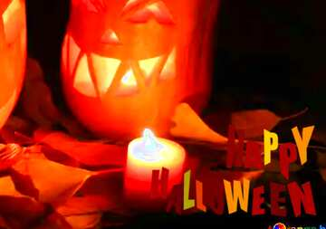 The effect of light. Very Vivid Colours. Fragment. Happy halloween.