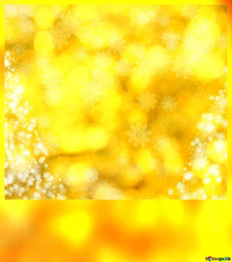 Snowflakes and Christmas Желтый фон №40671