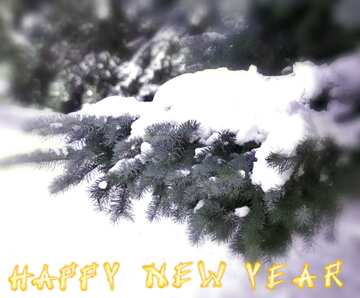 The effect of light. Very Vivid Colours. Blur frame. Fragment. Card with text Happy New Year.