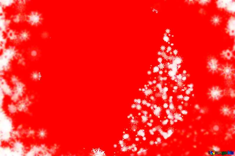 red with white sparkles Christmas tree Background №40696