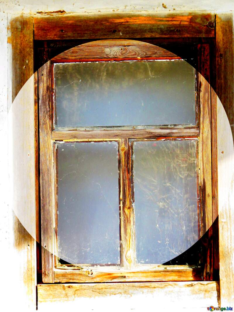 Old wooden window circle frame №28752