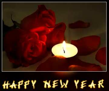 The effect of the dark. Vivid Colors. Blur dark frame. Card with text Happy New Year.