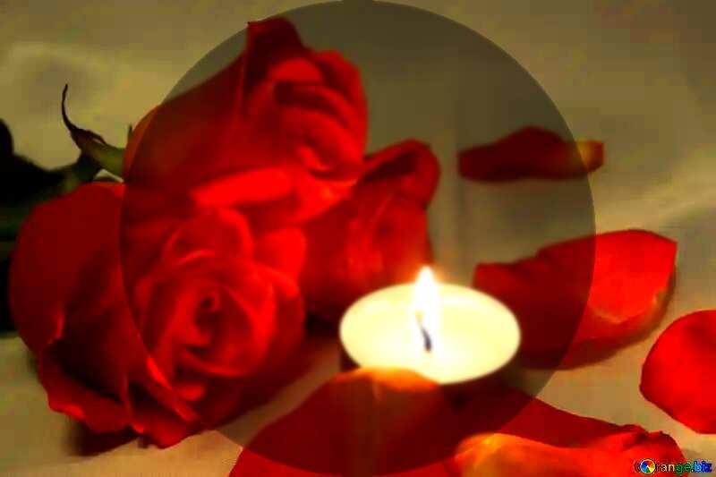 Romantic  candle  presentation template №7276