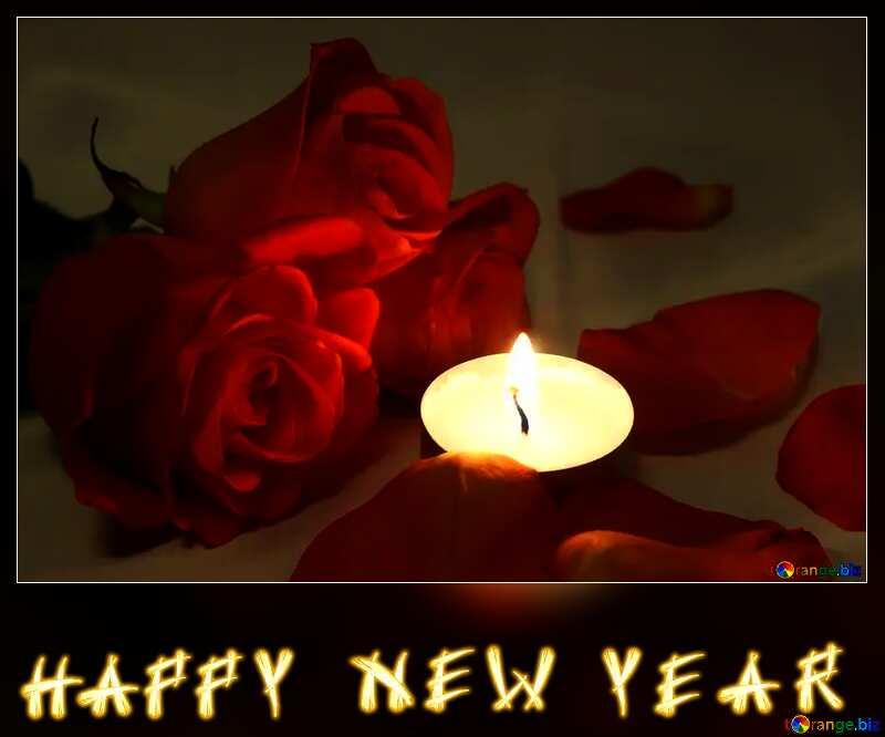 Romantic  night happy new year  text card №7276